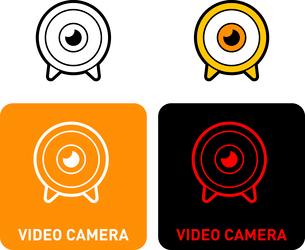 Video camera iconのイラスト素材 [FYI03101583]