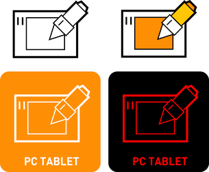 Tablet iconのイラスト素材 [FYI03101587]