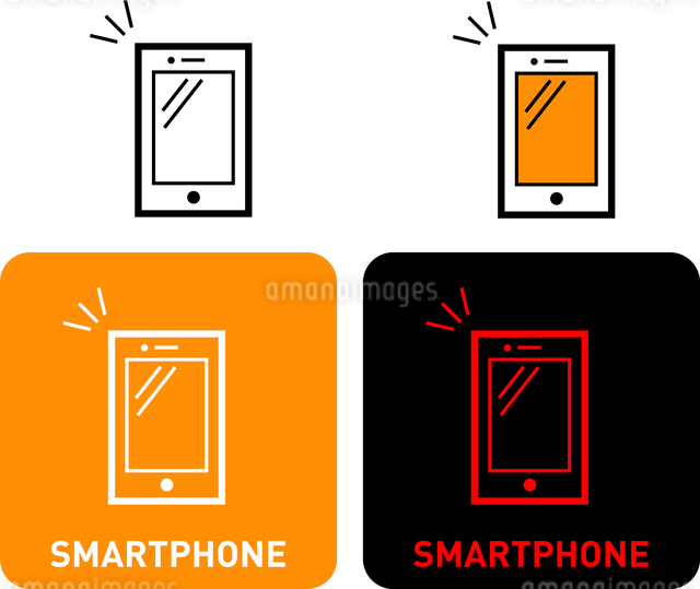 Smartphones iconのイラスト素材 [FYI03101588]