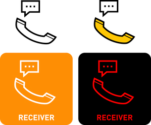 Receiver iconのイラスト素材 [FYI03101589]