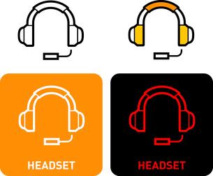 Headsets iconのイラスト素材 [FYI03101592]