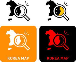 South Korea map iconのイラスト素材 [FYI03101609]