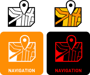 Navigation iconのイラスト素材 [FYI03101613]