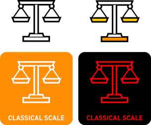 Scales iconのイラスト素材 [FYI03101618]