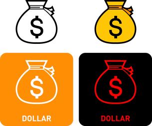 Dollar iconのイラスト素材 [FYI03101625]