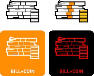 Bills coins iconのイラスト素材 [FYI03101627]