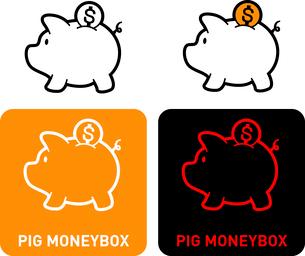 Piggy Bank iconのイラスト素材 [FYI03101629]