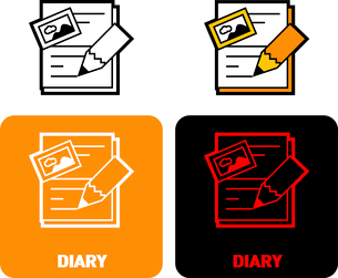 Diary iconのイラスト素材 [FYI03101641]