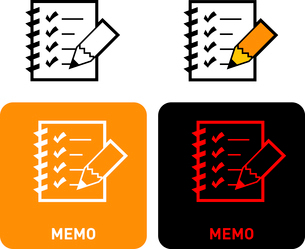 Memo iconのイラスト素材 [FYI03101646]