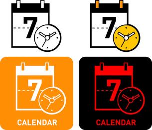 Calendar iconのイラスト素材 [FYI03101651]