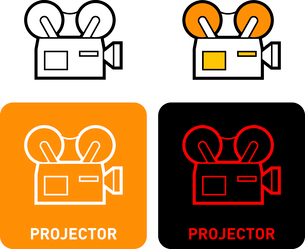 Projector iconのイラスト素材 [FYI03101653]