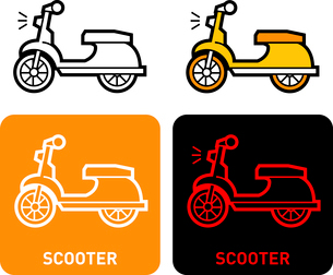 Scooter iconのイラスト素材 [FYI03101659]