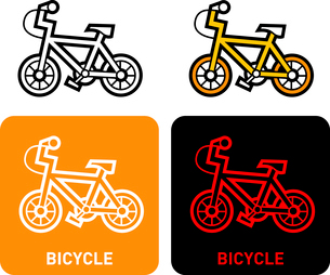 Bicycle iconのイラスト素材 [FYI03101660]