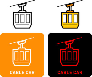 Cable Car iconのイラスト素材 [FYI03101662]