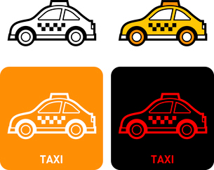 Taxi iconのイラスト素材 [FYI03101663]