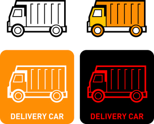 Delivery car iconのイラスト素材 [FYI03101664]