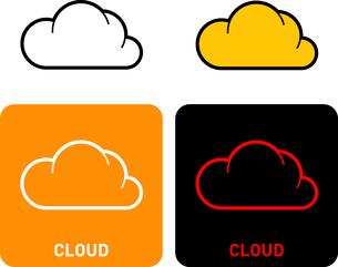 Cloud iconのイラスト素材 [FYI03101677]