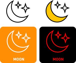 Moon iconのイラスト素材 [FYI03101679]