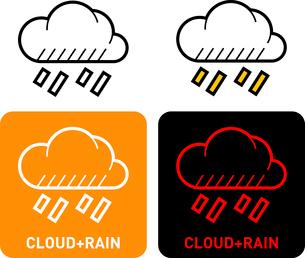 Rain cloud iconのイラスト素材 [FYI03101680]