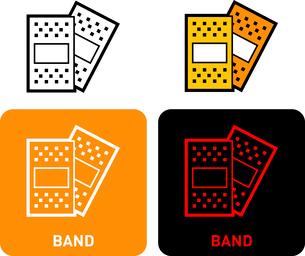 Band iconのイラスト素材 [FYI03101688]