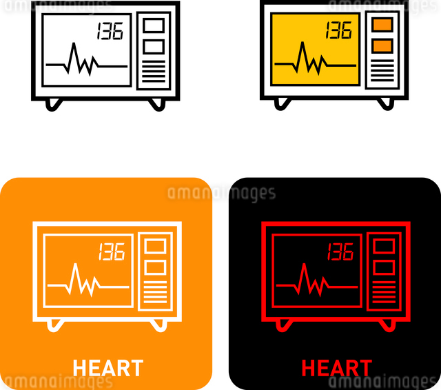 Heart rate iconのイラスト素材 [FYI03101698]