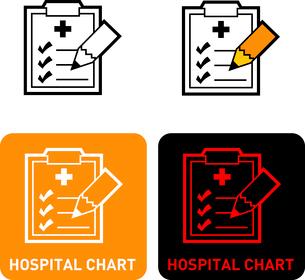 Hospital charts iconのイラスト素材 [FYI03101701]