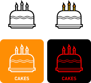 Cake iconのイラスト素材 [FYI03101714]