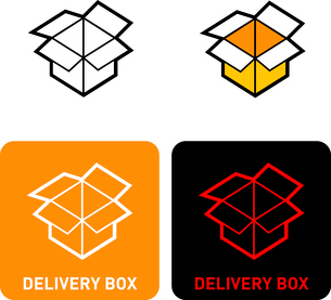 Delivery box iconのイラスト素材 [FYI03101717]