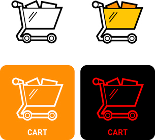 Cart iconのイラスト素材 [FYI03101718]