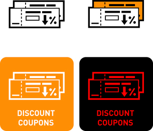 Discount coupons iconのイラスト素材 [FYI03101719]