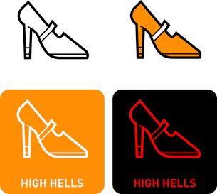 High Heels iconのイラスト素材 [FYI03101723]