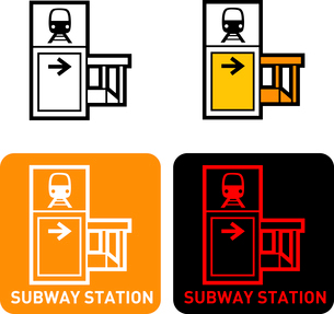 Subway iconのイラスト素材 [FYI03101745]