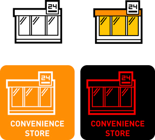 Convenience iconのイラスト素材 [FYI03101746]