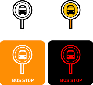 Bus stop iconのイラスト素材 [FYI03101747]