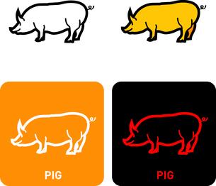 Pig iconのイラスト素材 [FYI03101753]