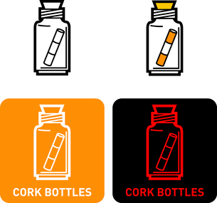 Glass bottle iconのイラスト素材 [FYI03101768]