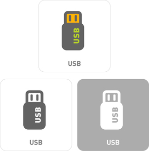 Cable Pictogram Iconsのイラスト素材 [FYI03101773]