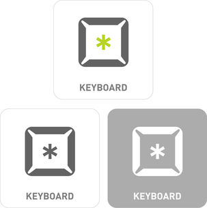 Keyboard Pictogram Iconsのイラスト素材 [FYI03101775]