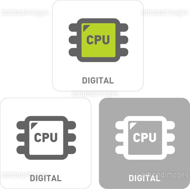 CPU Pictogram Iconsのイラスト素材 [FYI03101787]