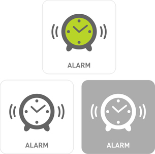 Alarm Pictogram Iconsのイラスト素材 [FYI03101789]