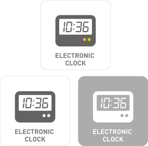 Electronic Watch Pictogram Iconsのイラスト素材 [FYI03101791]