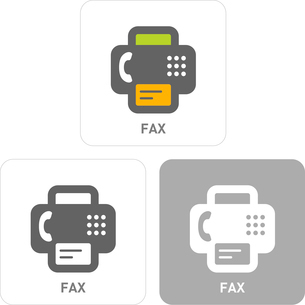 Fax Pictogram Iconsのイラスト素材 [FYI03101792]
