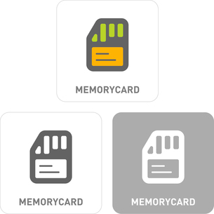 Memory Cards Pictogram Iconsのイラスト素材 [FYI03101795]