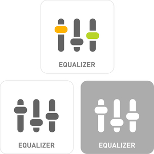 Equalizer Pictogram Iconsのイラスト素材 [FYI03101802]
