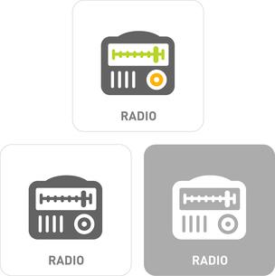 Radio Pictogram Iconsのイラスト素材 [FYI03101803]
