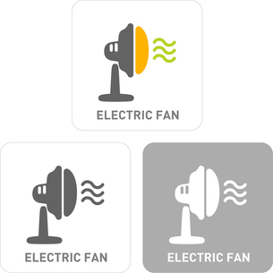 Electric fan Pictogram Iconsのイラスト素材 [FYI03101805]
