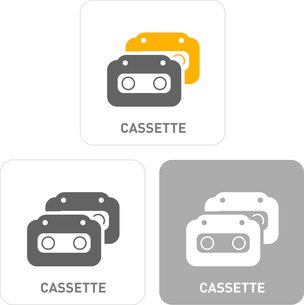 Cassette Pictogram Iconsのイラスト素材 [FYI03101806]