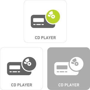 CD player Pictogram Iconsのイラスト素材 [FYI03101809]