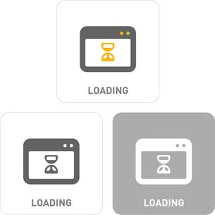 Loading Pictogram Iconsのイラスト素材 [FYI03101813]