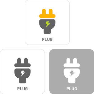 Plug Pictogram Iconsのイラスト素材 [FYI03101815]